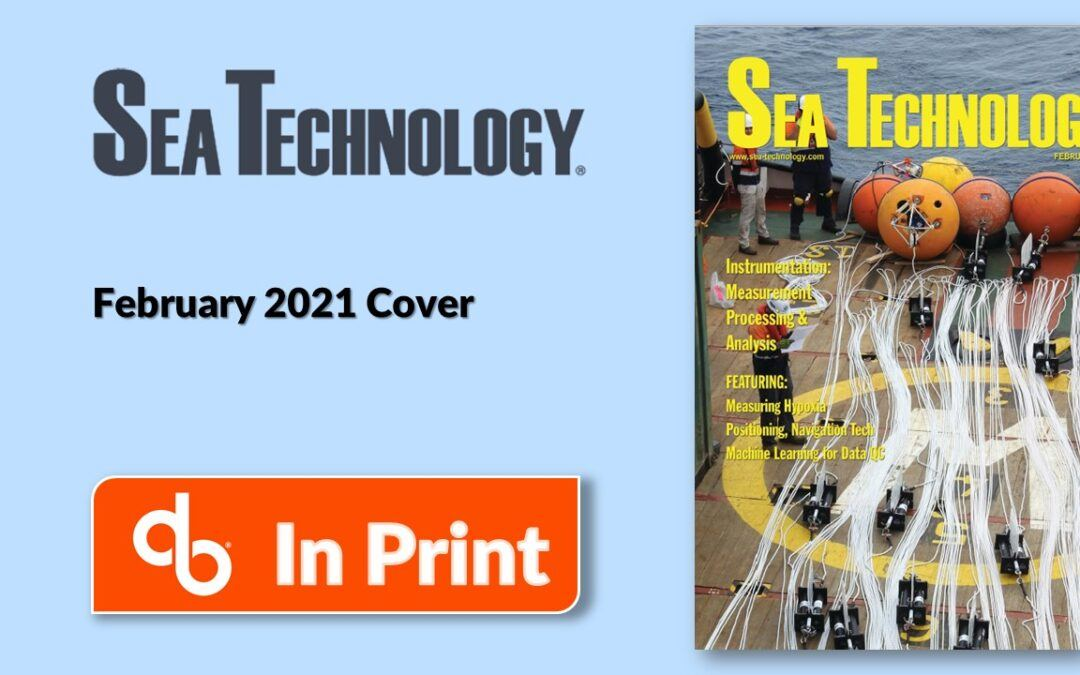 DeepWater Buoys on Cover of Sea Technology FEB 2021