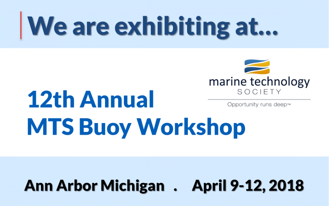 Sponsoring the MTS Buoy Workshop 2018