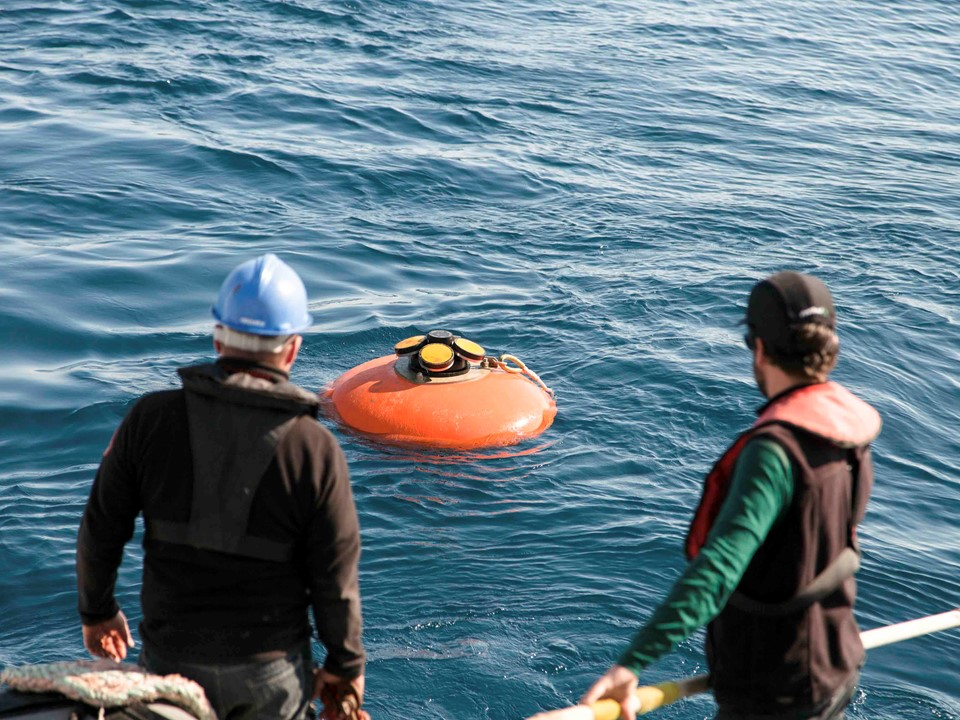 Recovery of DeepWater Buoyancy Elliptical Buoy with Nortek ADCP