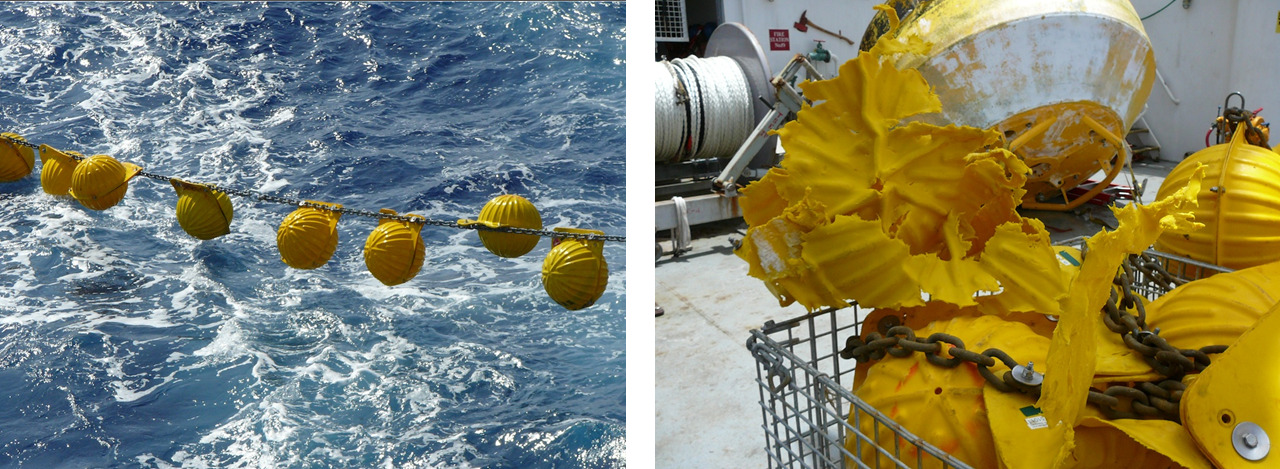 Subsea glass sphere flotation