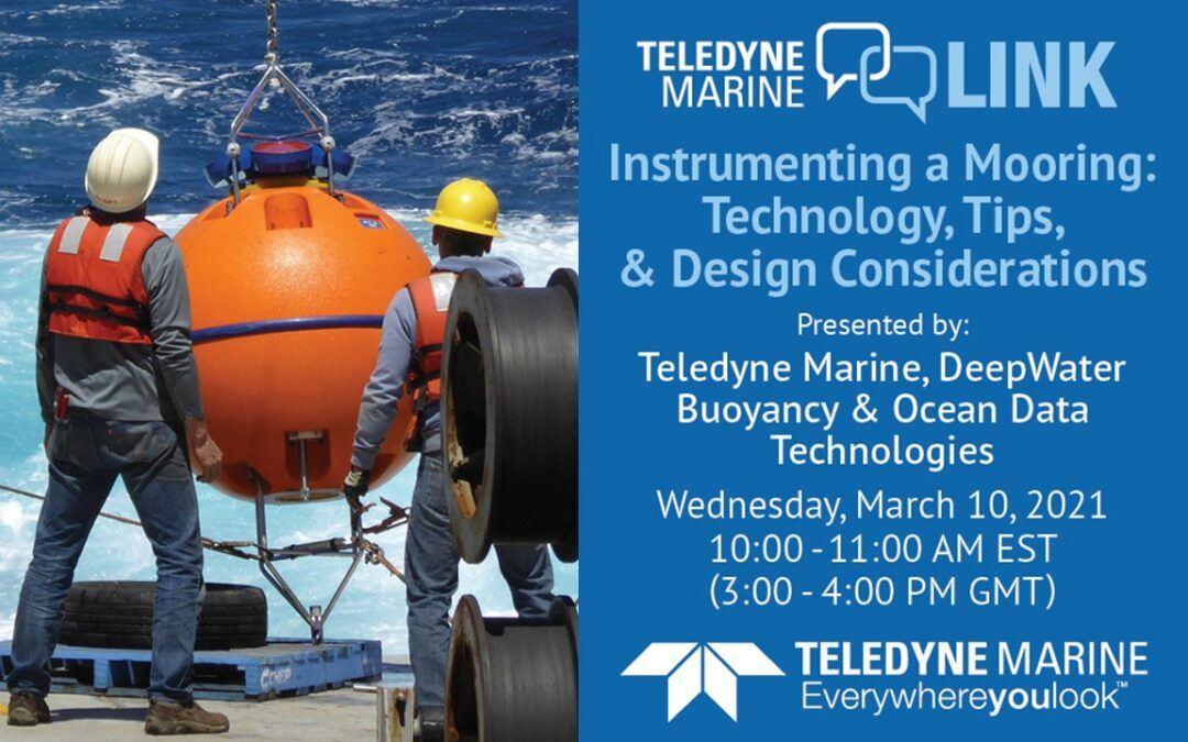 Teledyne marine Link - Instrumenting a Mooring