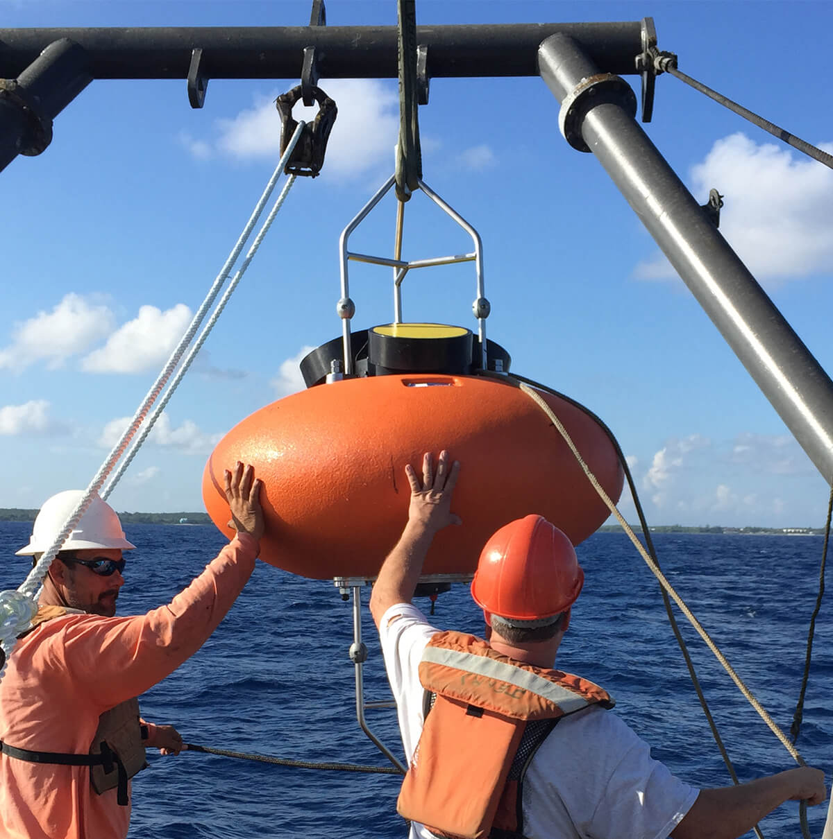 Elliptical ADCP Buoy for Nortek Instrument on Vessel