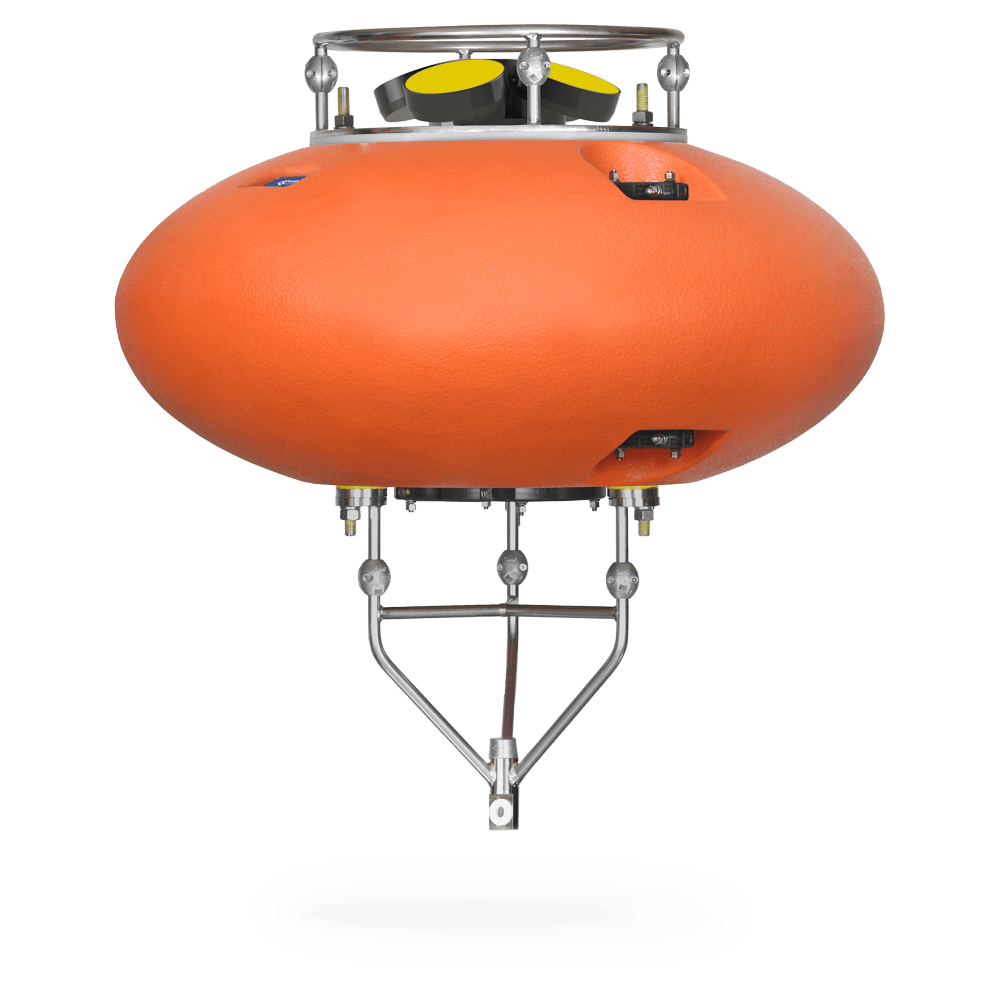 DeepWater Buoyancy Elliptical ADCP Buoy with Nortek Signature ADCP