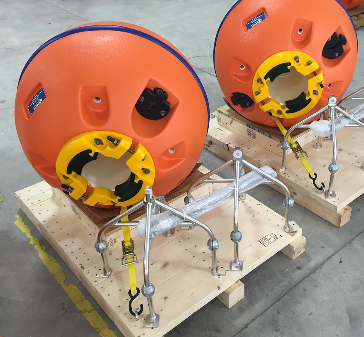 Spherical ADCP Buoys for Nortek Group Instruments on Skid