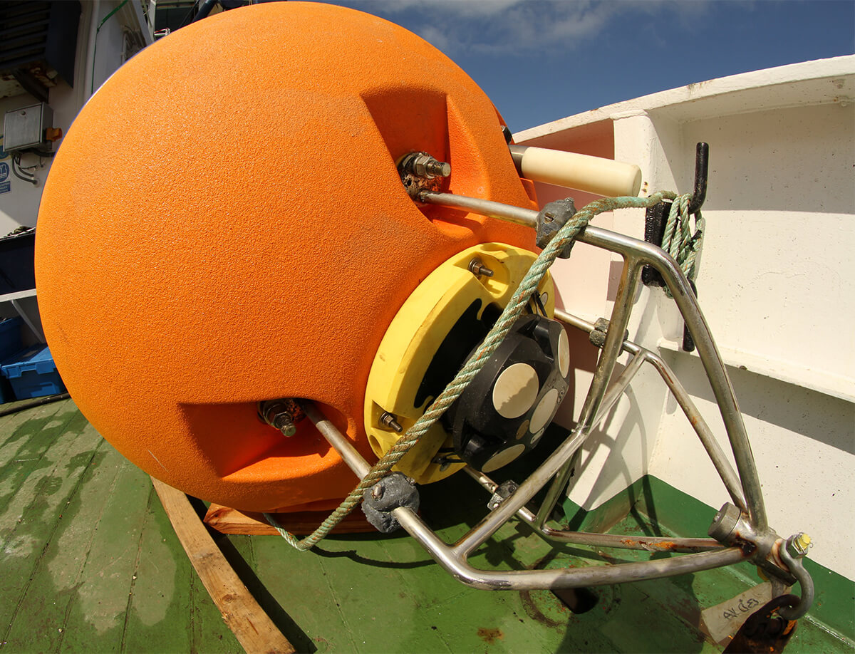 Nortek ADCP in DeepWater Buoyancy Spherical ADCP Buoy