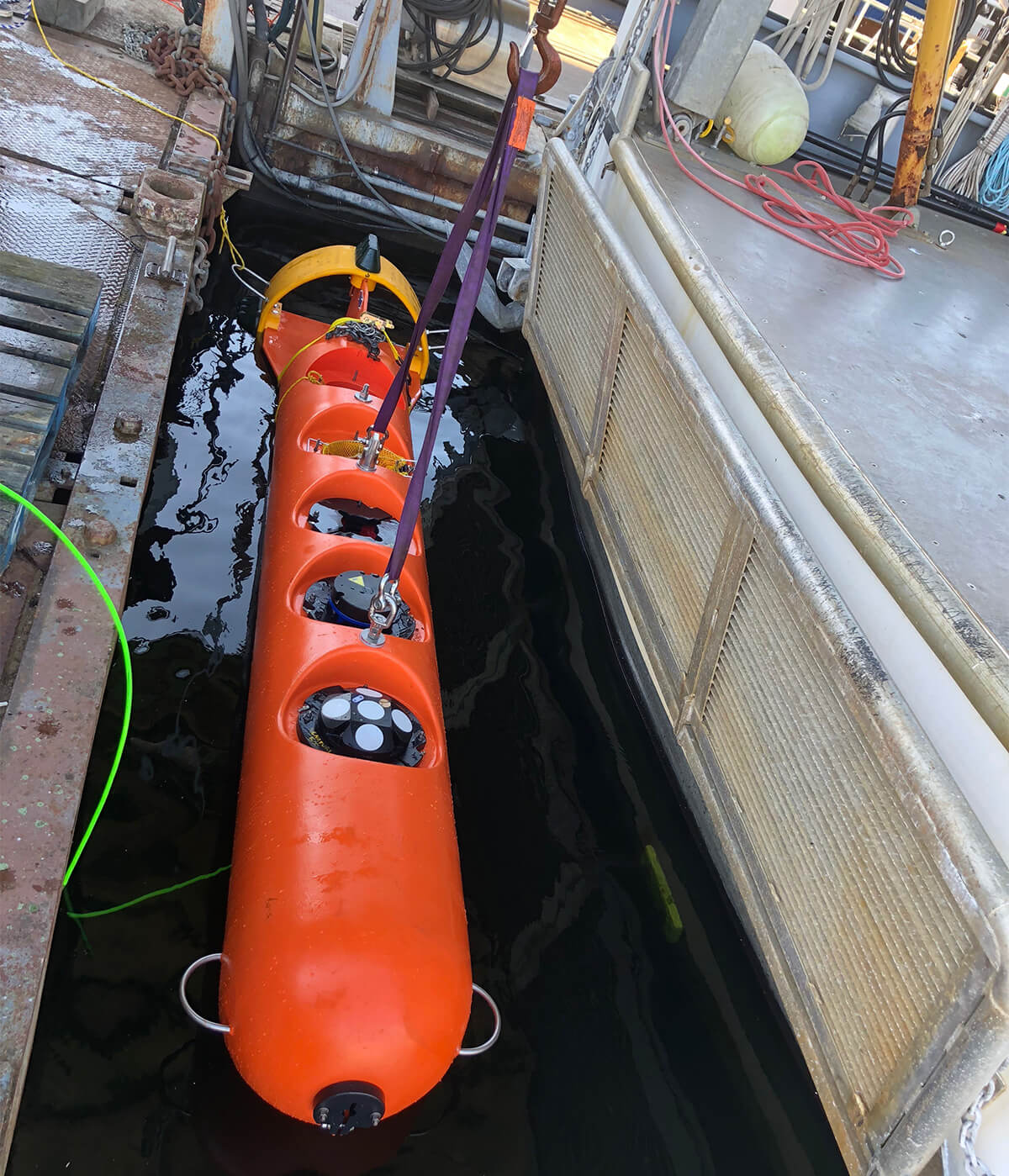 Custom StableMoor Mooring Buoy with Nortek Instruments